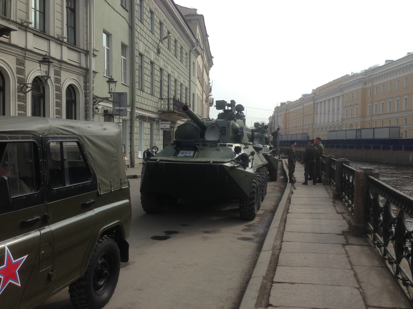 Tanks in the city, surprise
