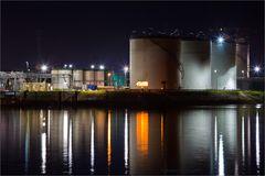 Tankschiff-Hafen