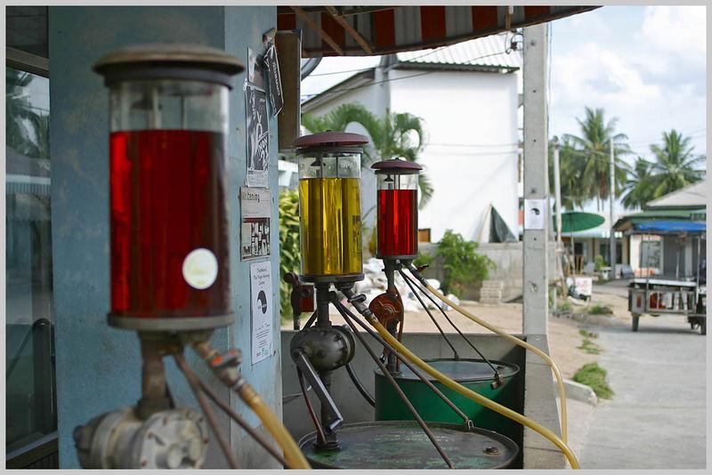 Tankstelle auf Koh Phangan