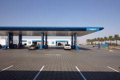 Tankstelle in der Wüste.