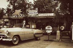 Tankstelle Nostalgisch