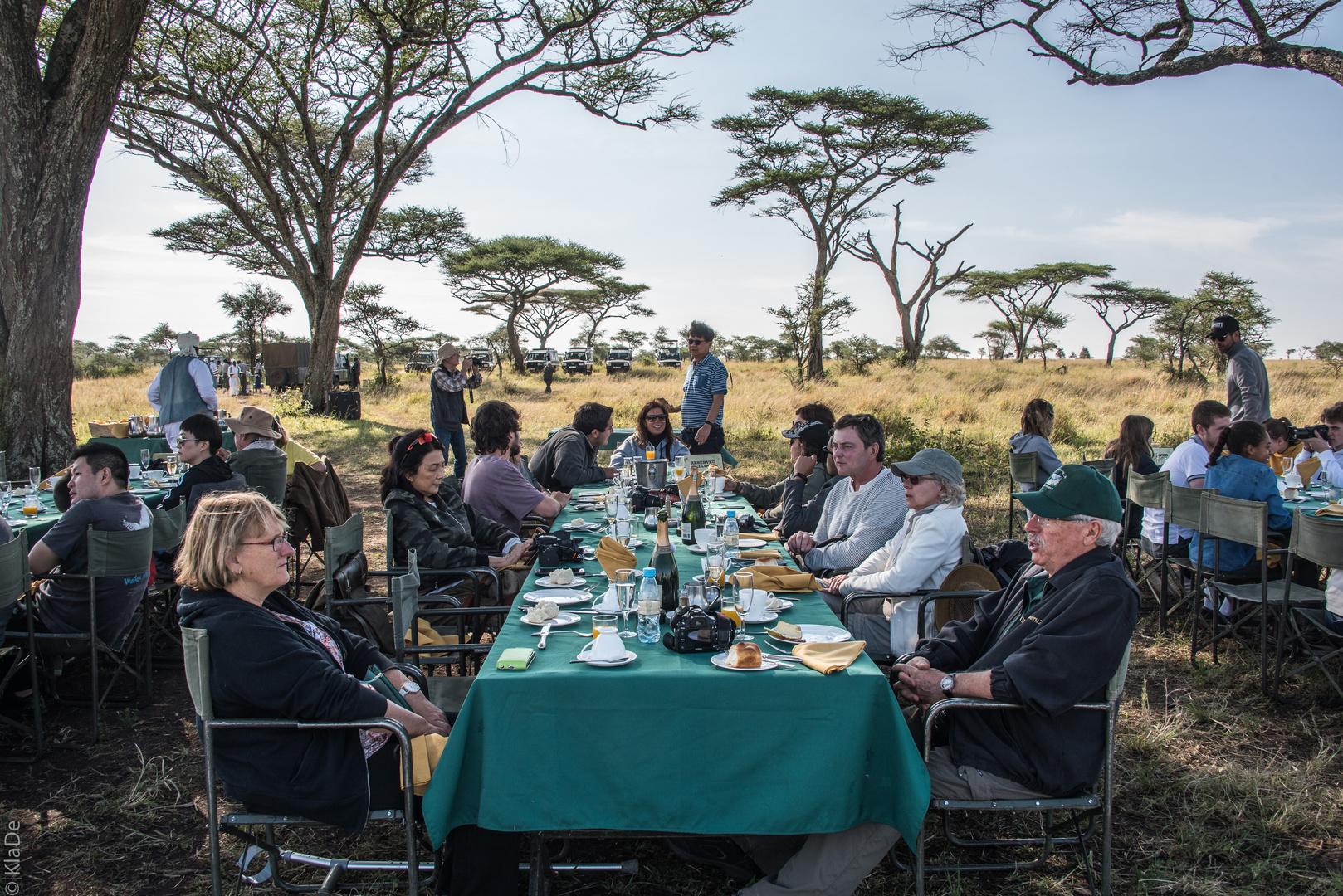 Tansania - Serengeti - Frühstück im Busch