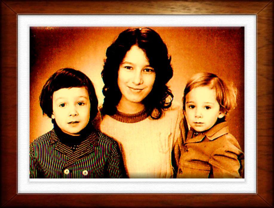 Tante,Bruder und ich.