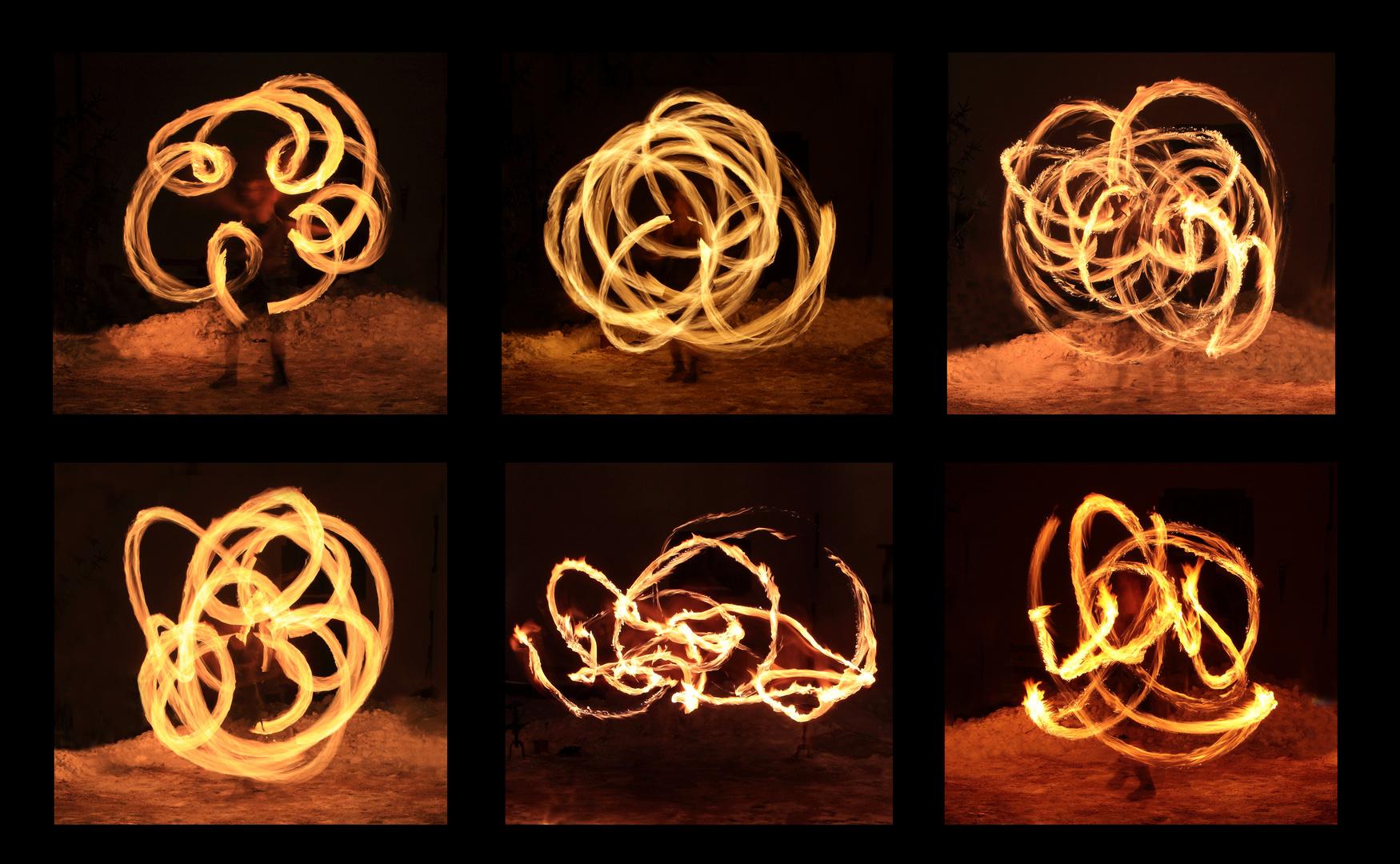 Tanzfiguren des Feuers