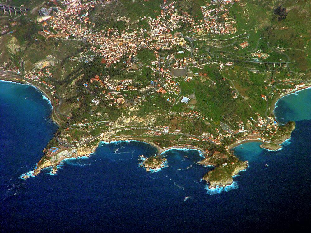 Taormina- Luftaufnahme