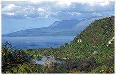 Tarawera See und Vulkan