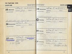 Taschenbuchauszug Januar 1978