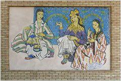 Taschkent - Museum für angewandte Kunst - Kunstwerk an der Außenwand
