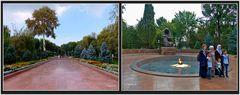 Taschkent - Parkanlage zu einem Denkmal für die Kriegsgefallenen