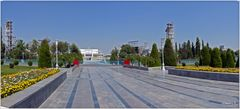 Taschkent - Weg zum Platz der Völkerfreundschaft - Open-Air-Bühne und Sportstadion