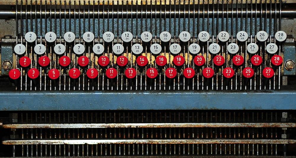 tastatur für lochkartenschreibmaschine