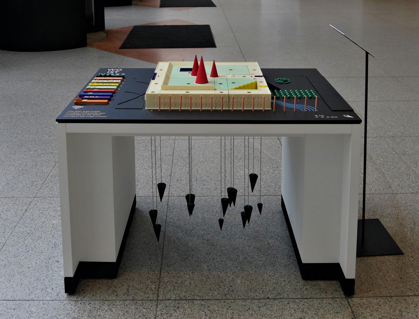 """ Tastmodell "" der Bundeskunsthalle ( Architekt Gustav Peichl )"