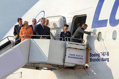 Taufe der neuen 747-8 der Lufthansa...