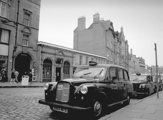 Taxi, en Edimburgo