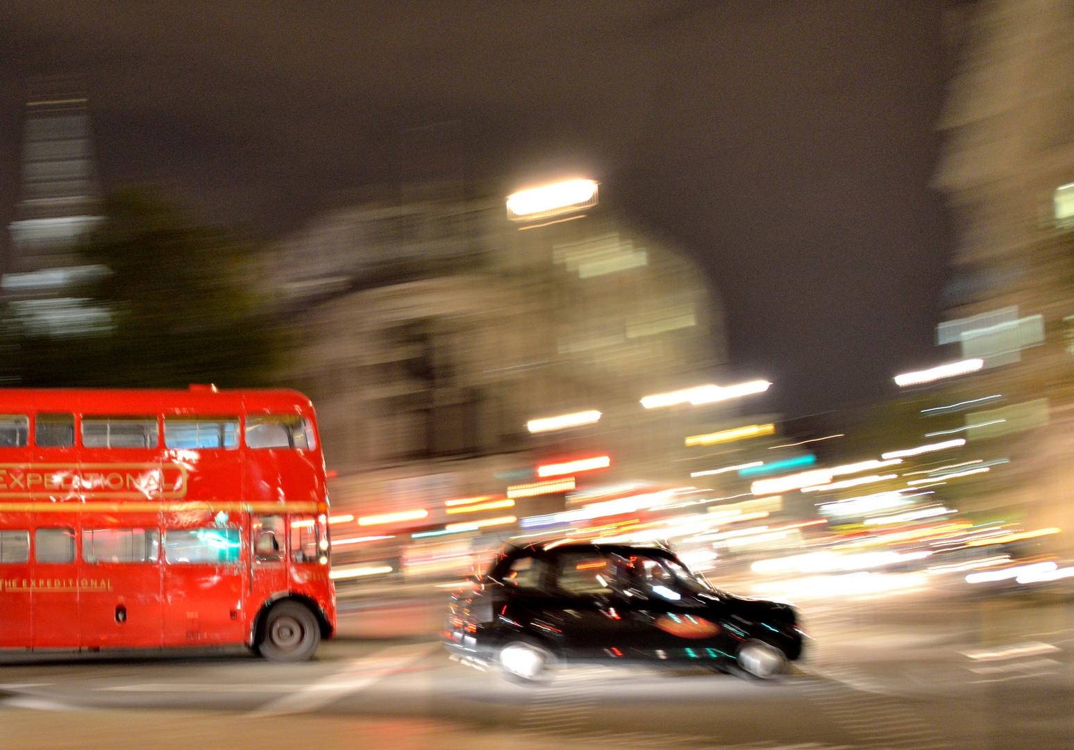 Taxi fangen nach dem Pub