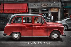 TAXI in red