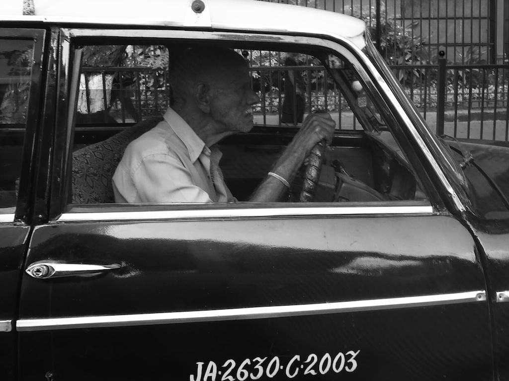 Taxifahrer in Mumbai