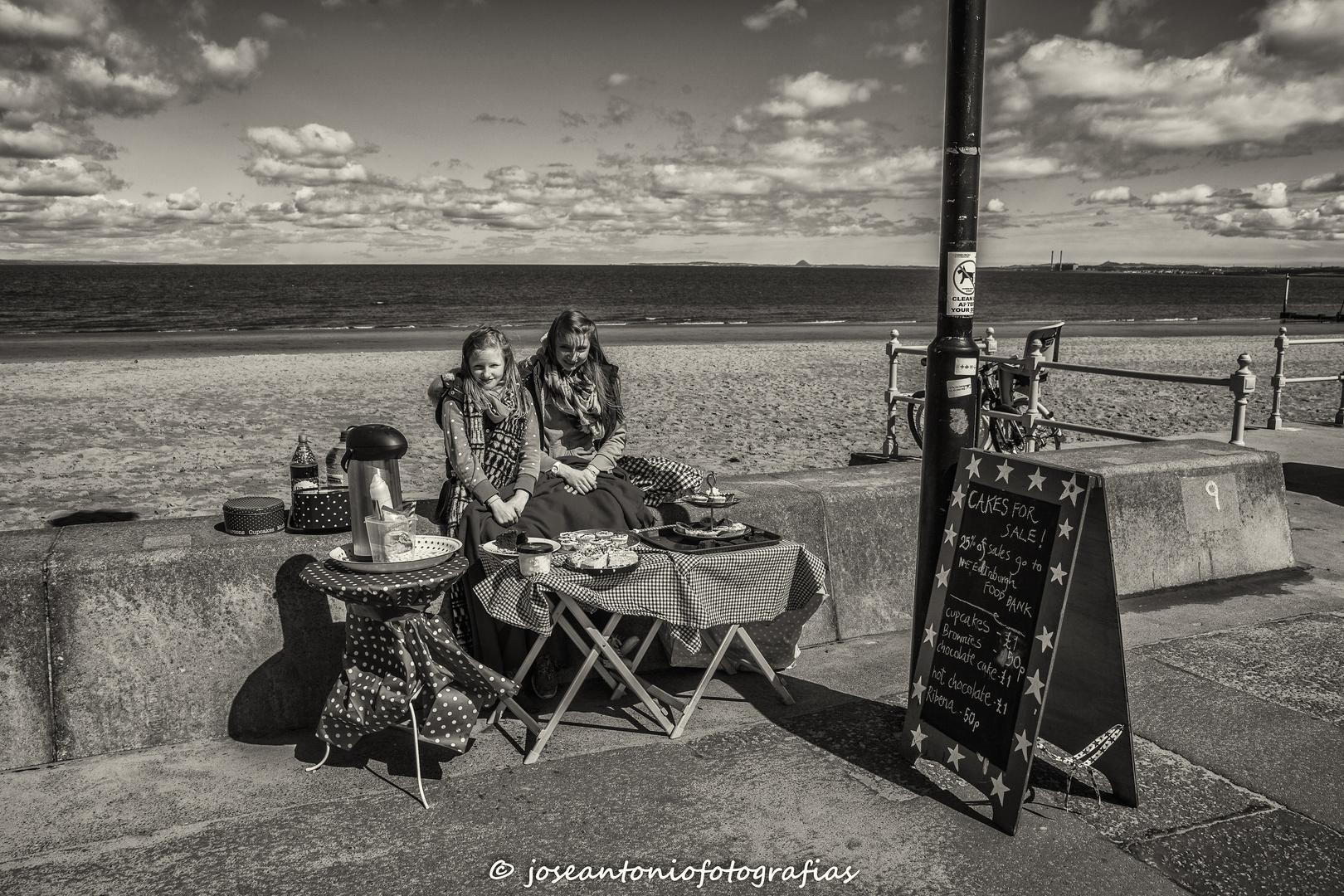 Té en la playa de Portobello