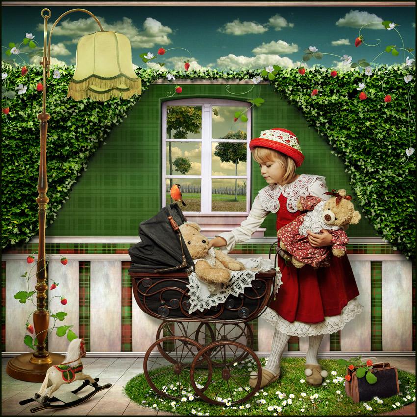 Teddy Bear Mum von Oxana Zuboff