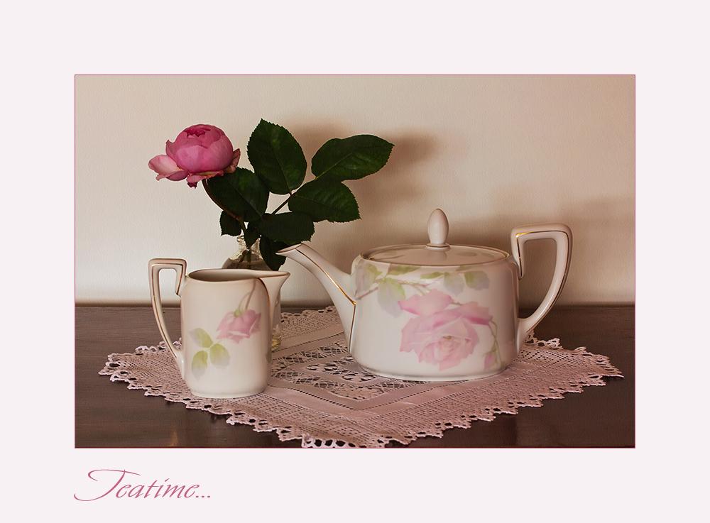 Tee und Rosen....