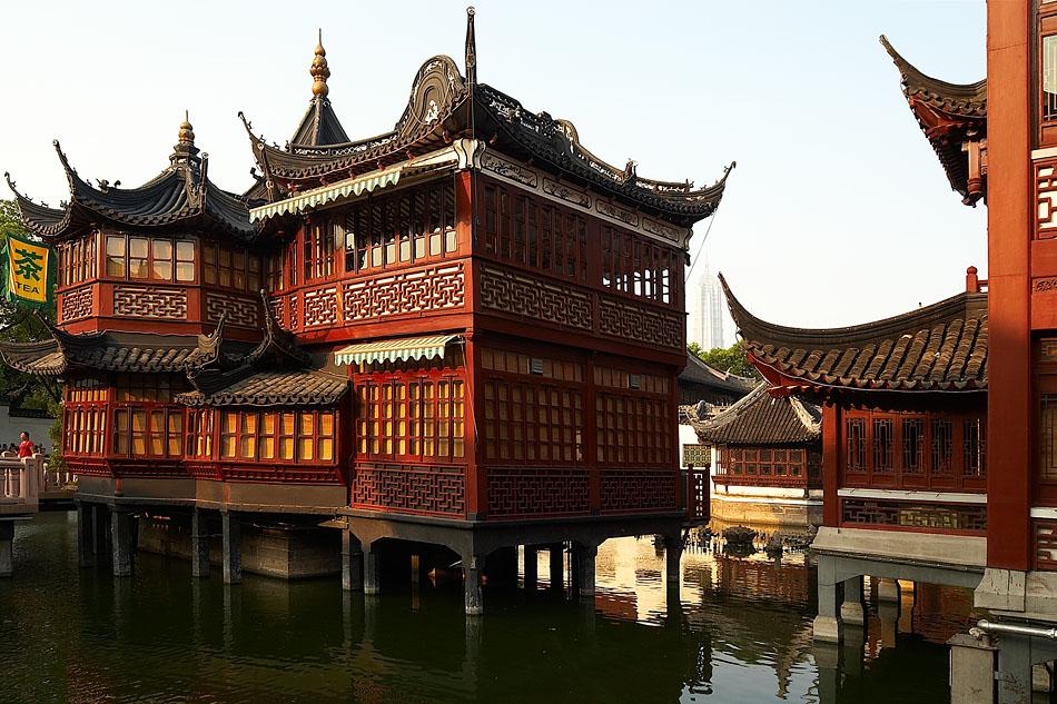 Teehaus in Shanghai (Yu-Yuang-Park)