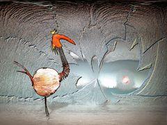 Teichvogel in Eishöhle