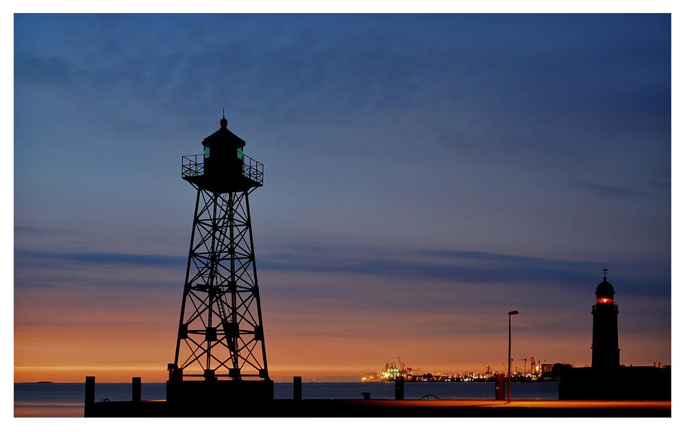 Teil --3--: Sonnenuntergang am 14.4.2012 über der Weser an der Geestemole in Bremerhaven