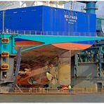 """Teil -- 9 --: Maritime Arbeitswelten in Bremerhaven am 23.10.2013 """"Kleine Männer bei großer Arbeit"""""""