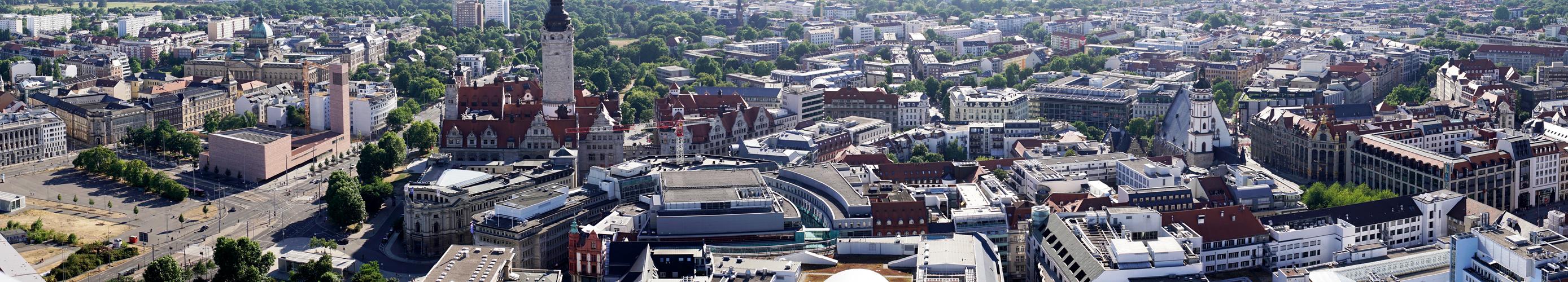 Teil der Innenstadt (westlicher Teil) von Leipzig, ohne Turmspitze ;)
