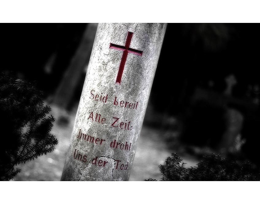 Teil eines Grabsteins...