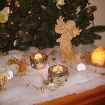 Teilansicht der Krippendekoration von Weihnachten 2012