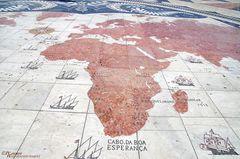 Teilansicht Windrosen-Mosaik