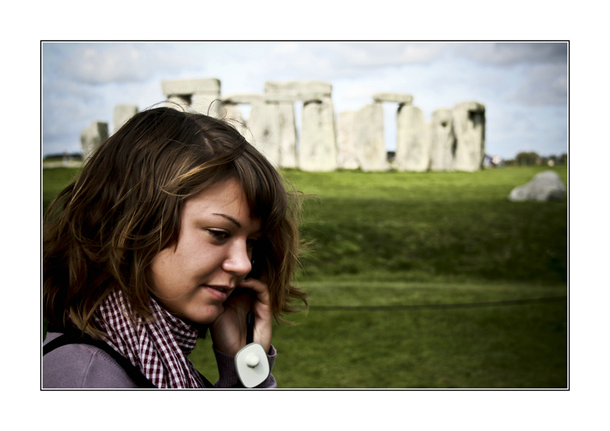 telefonieren in stonehenge - oder doch dem audioguide folgen