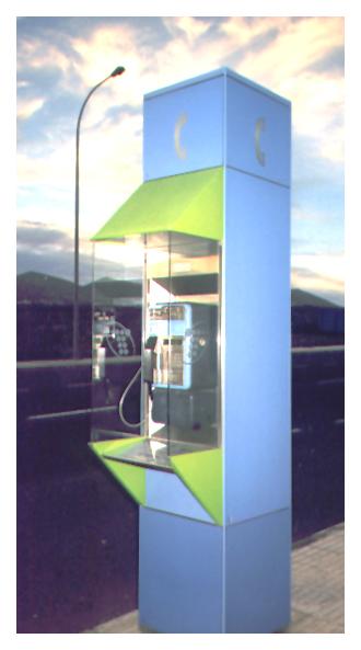 Telefonzelle als Designobjekt