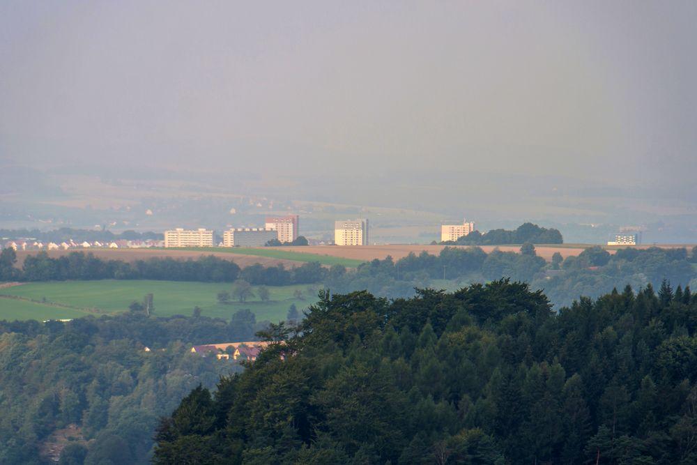 Telezoom-Blick nach Pirna