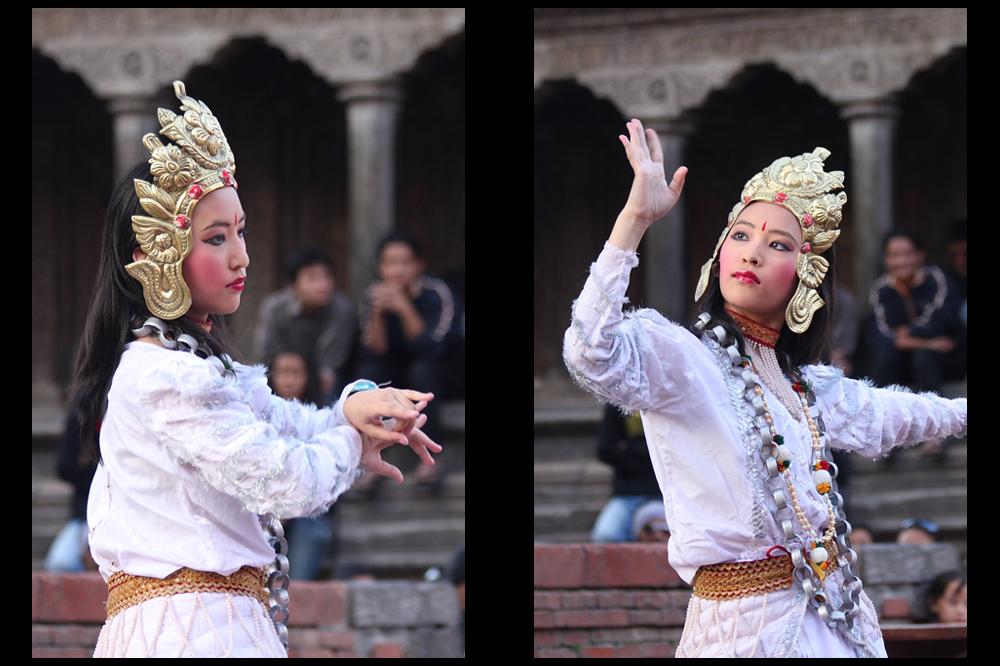 Tempelfest, Durbar Square, Patan, Bild 02