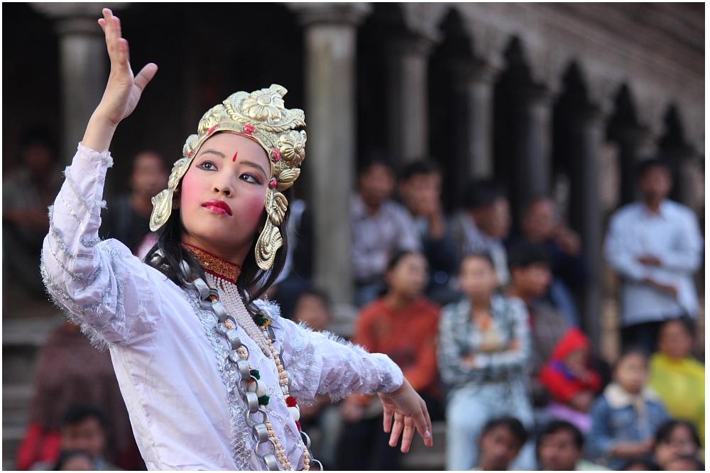 Tempelfest, Durbar Square, Patan, Bild 03