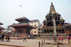 Tempellandschaft auf dem Durbar Square in Patan