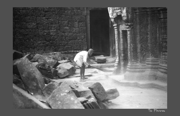 Tempelwächter am Ta Phrom-Tempel
