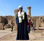 Tempelwächter vor dem Horustempel in Philae