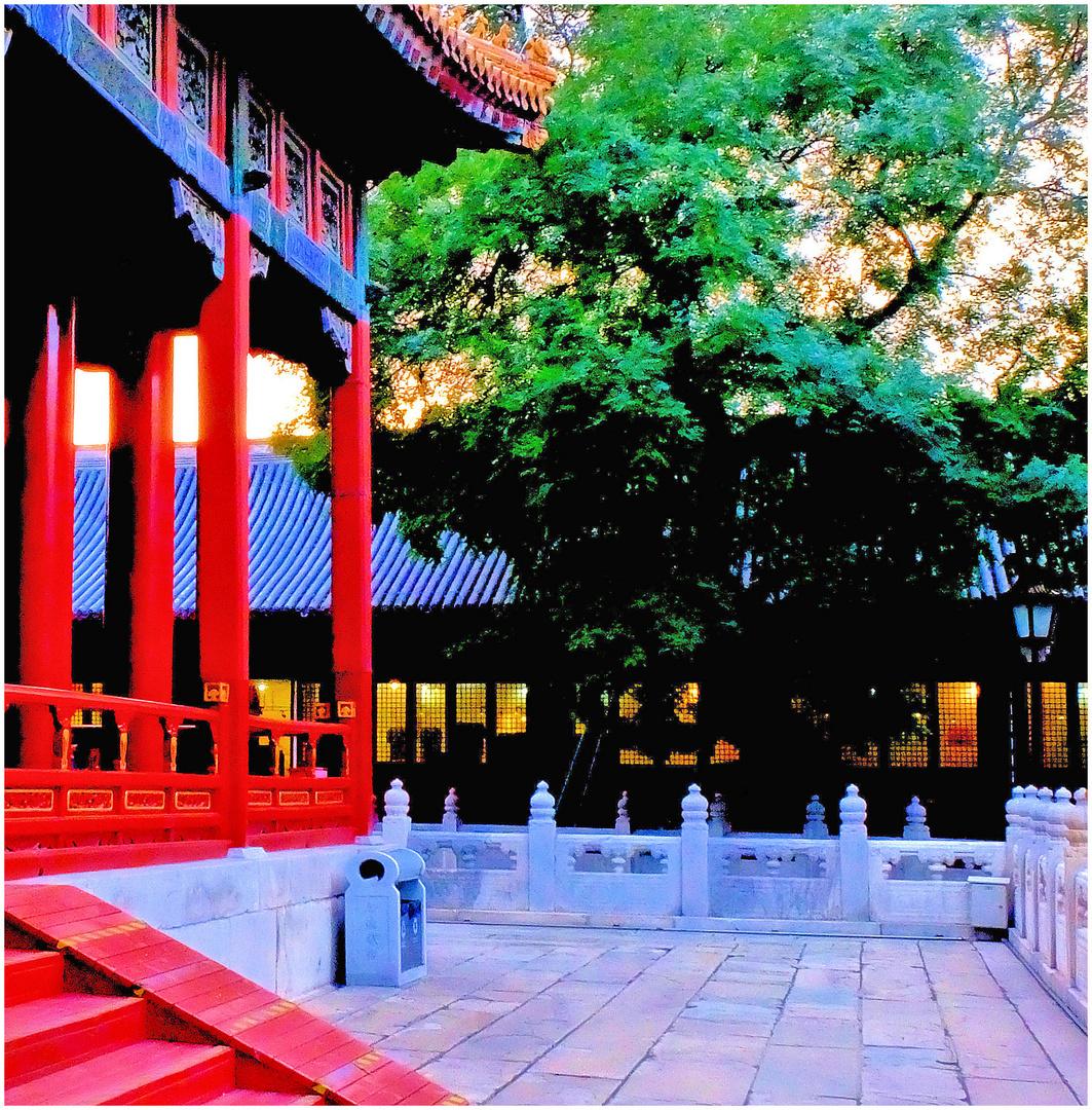 Temple au couchant