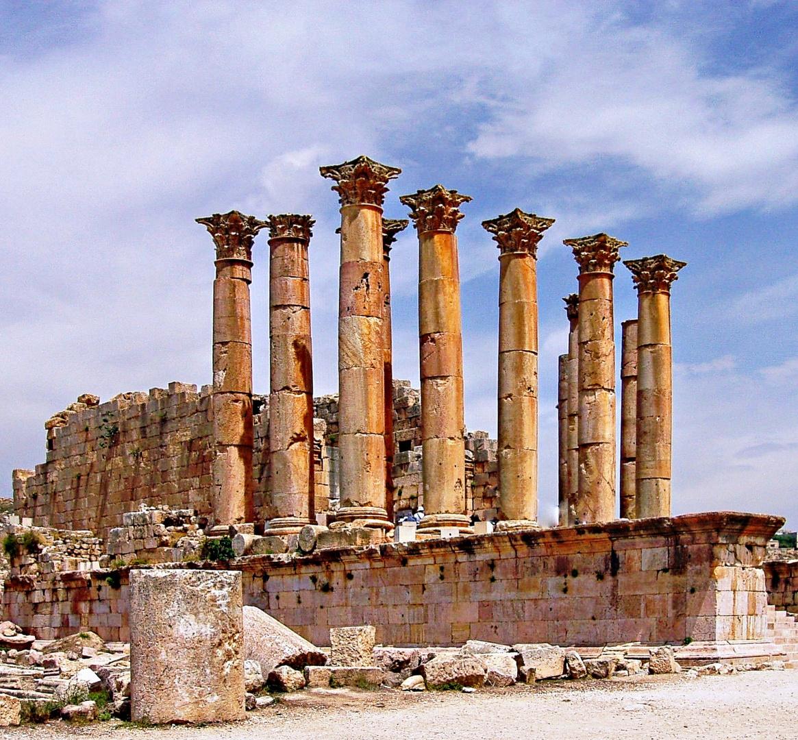 temple d'Artémis à Jerash