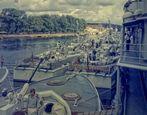 """Tender """"Elbe"""" mit Schnellbooten der 141er Klasse des 2.Schnellbootgeschwaders (1969)"""