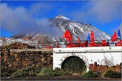 Teneriffa, El Portillo mit Blick auf Pico de Teide