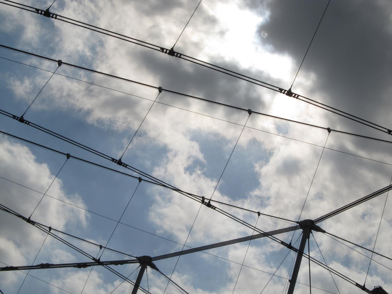 Tennishimmel (oder: Wolken über dem Center-Court)