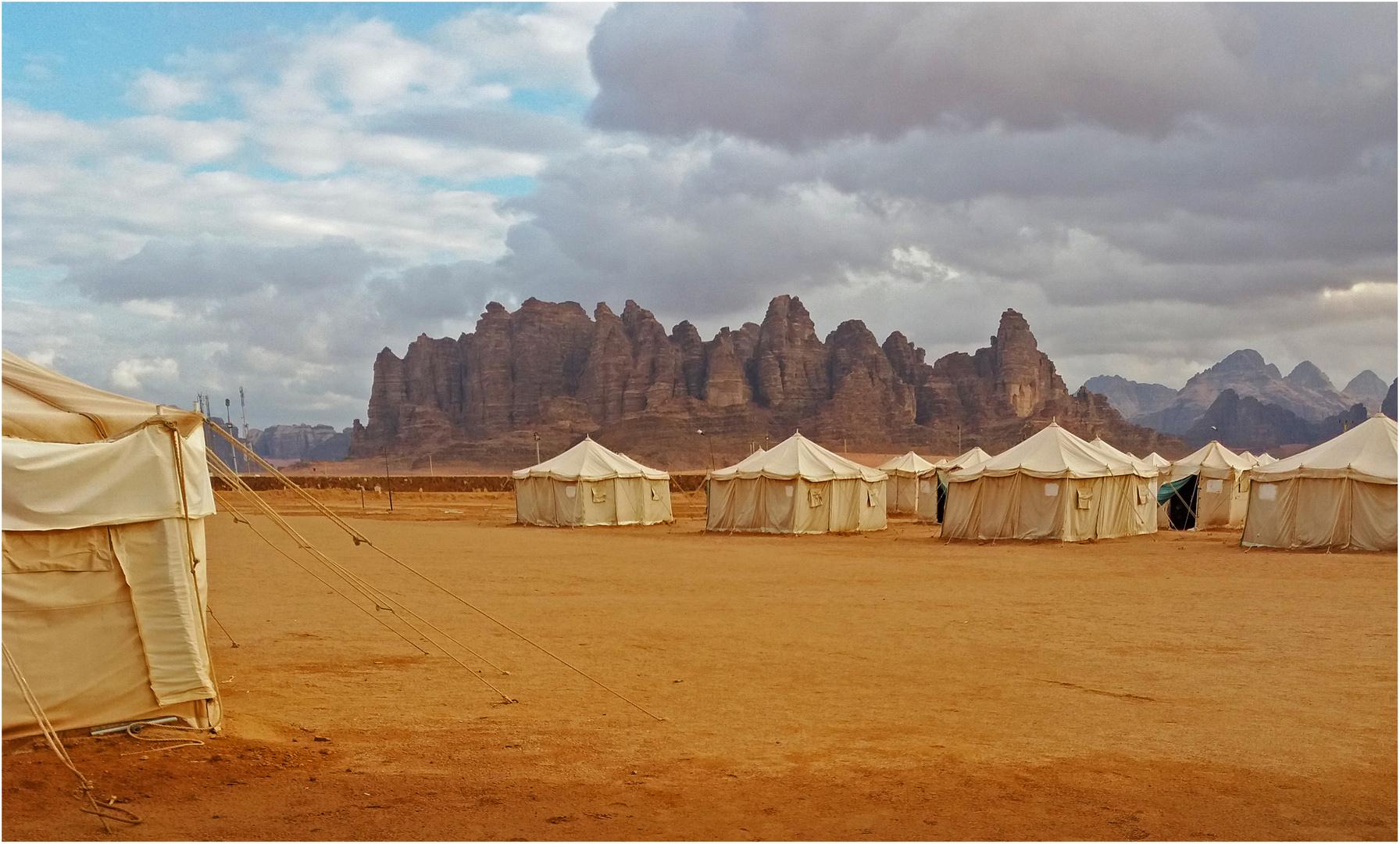 Tentes au désert de Wadi Rum