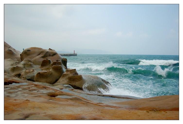 Terrain de l'érosion de vague.