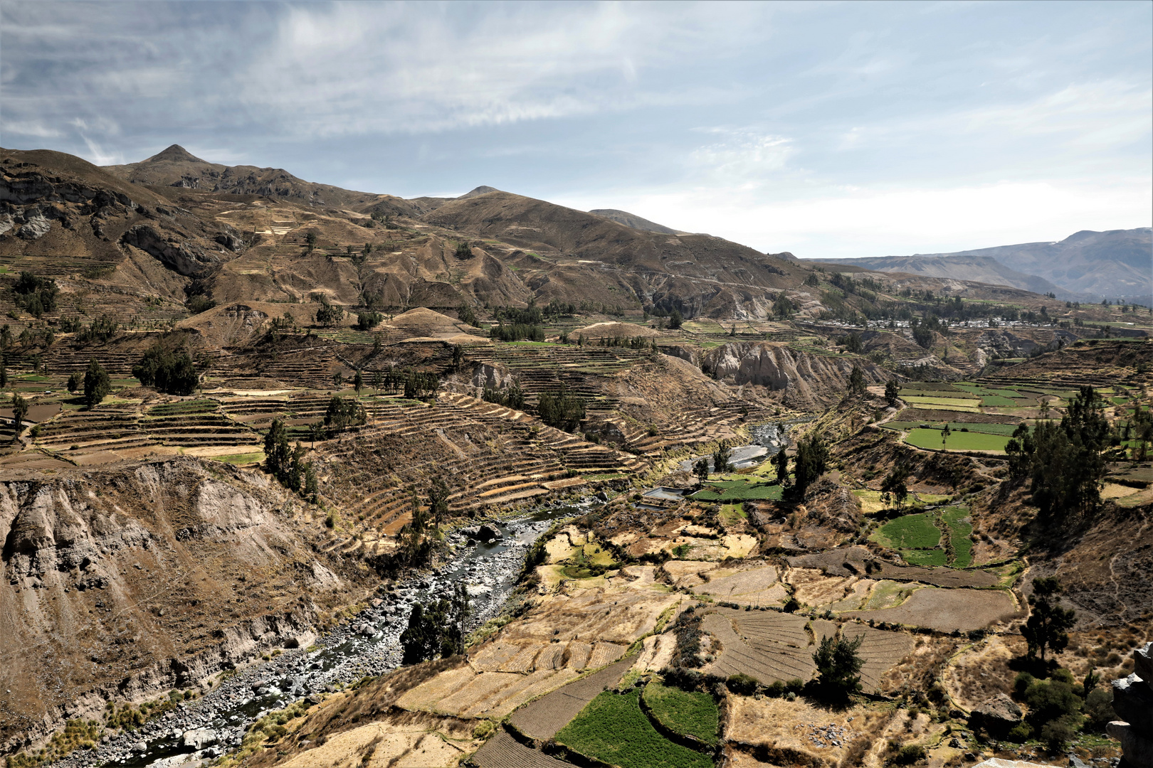 Terrassenanlage, schon von den Incas angelegt
