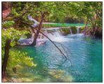 Terrassenartiger Wasserfall