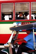terrific traffic jam in bangkok